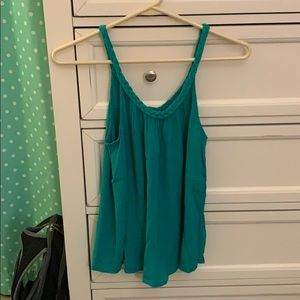 Turquoise braided tank top